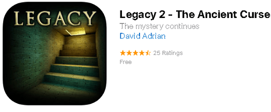 Legacy 2 – The Ancient Curse Puzzle Game for iOS Now Free