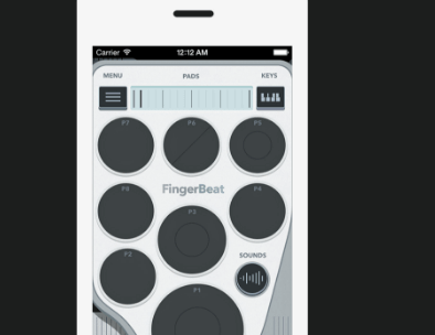 FingerBeat Drum Pad App Available Free for iPhone/iPodTouch