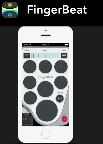 FingerBeat drum pad app