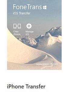 FoneTrans – iOS Transfer software for Windows Free License