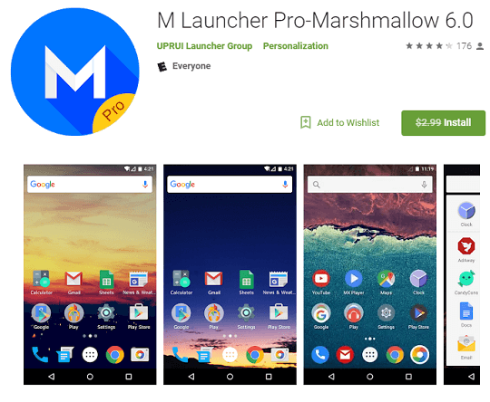 M Launcher Pro Android App Now Free [Worth $2.99]