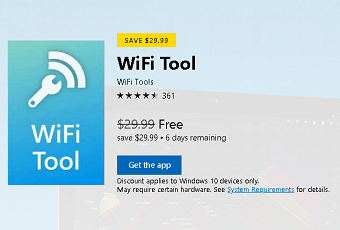 WiFi Tool – WiFi analyzer for Windows 10 Devices Now Free