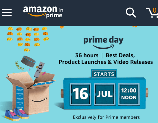 Amazon Prime Day on July 16 – Best Deals for 36 Hours [India]