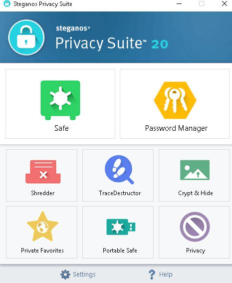 Steganos Privacy Suite 20 interface