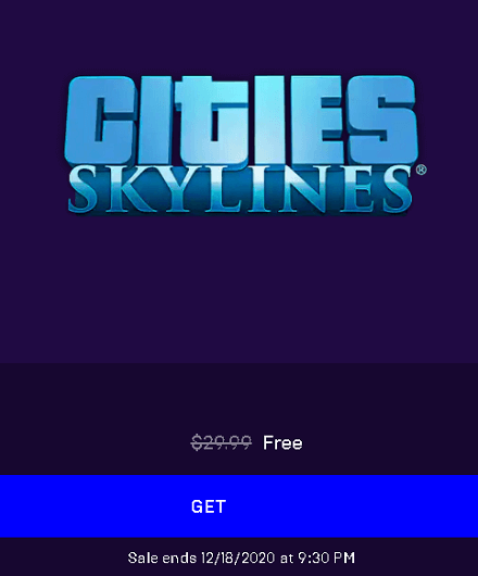 Cities Skylines Game giveaway