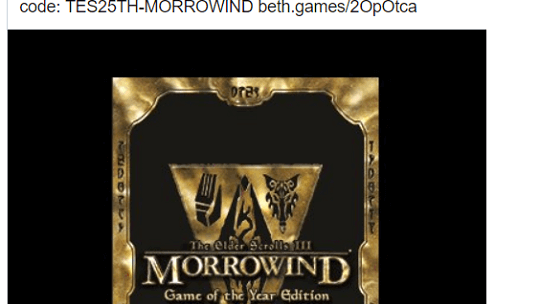 Get The Elder Scrolls 3 MORROWIND FREE FOR PC  [Until March 31]