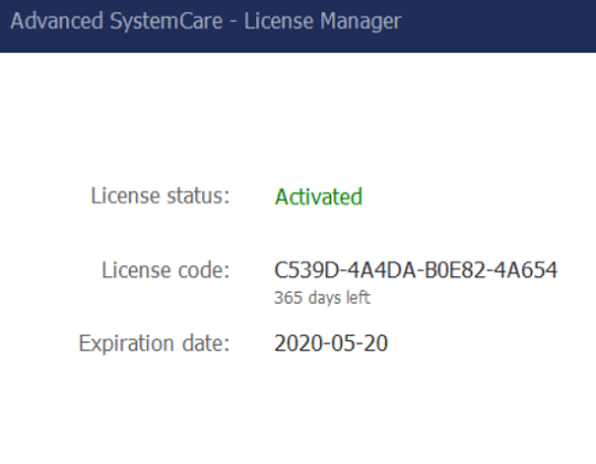 advanced systemcare license code