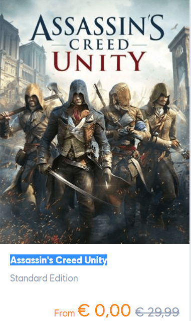 Assassins Creed Unity PC Game FREE for a limited time