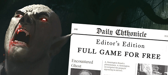 Daily Chthonicle – Investigation Management RPG Now Free