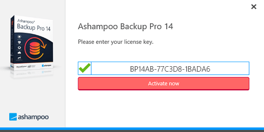 Ashampoo Backup Pro 14 license key