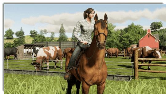 Farming Simulator 19 - ride on a horse