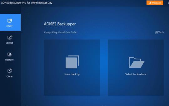AOMEI Backupper Pro interface