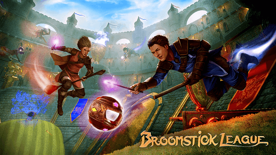 Broomstick League game