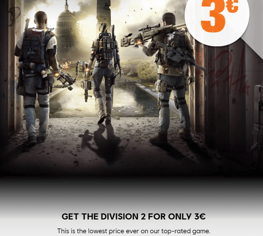 Get the division 2 for only 2 dollars