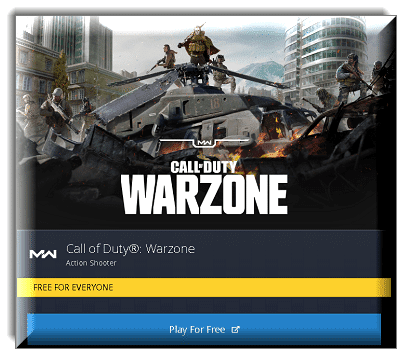 CALL OF DUTY: WARZONE free for everyone