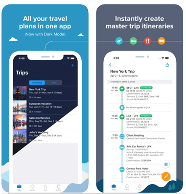 TripIt Pro travel app