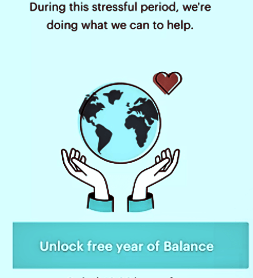 Balance Meditation App free year of balance