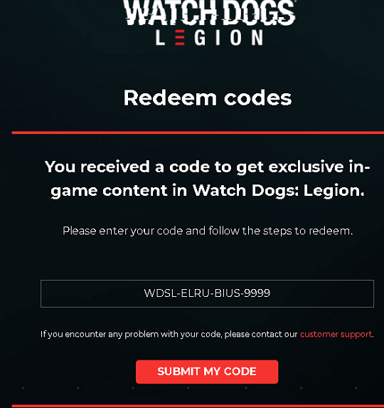 Watch Dogs Legion Redeem Code
