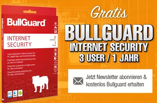 BullGuard Internet Security 2021 Free 1 Year License -3 PC