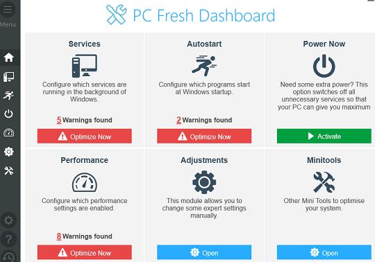 Abelssoft PC Fresh Interface