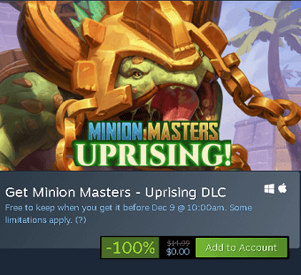 Uprising DLC free on Steam