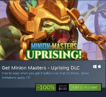 Uprising DLC free on Steam