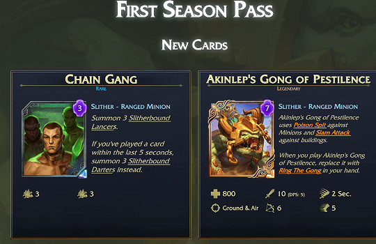 Uprising DLC - New cards
