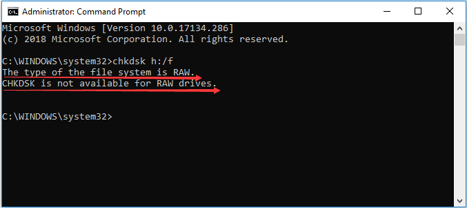 Format the Disk using Command Prompt