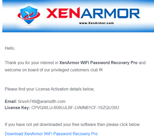 XenArmor WiFi Password Recovery Pro License key