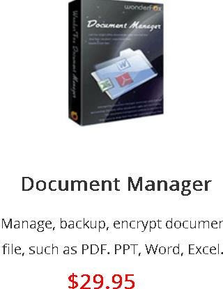 WonderFox Document Manager - Box Shot
