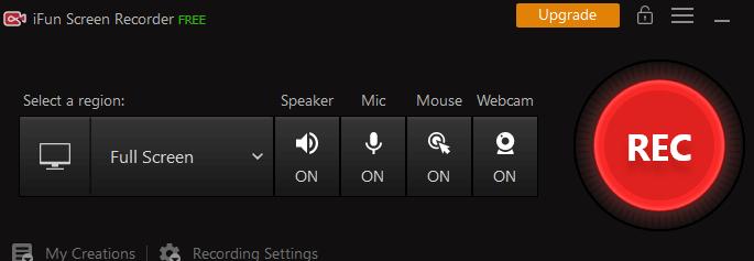 iFun Screen Recorder Main Window