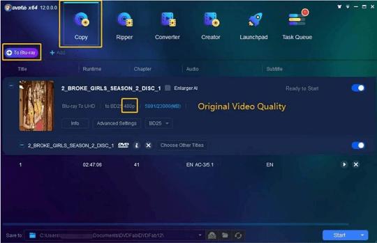 DVDFab Enlarger AI- Windows Interface
