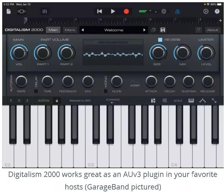 Digitalism 2000 as an AUv3 Plugin -GarageBand