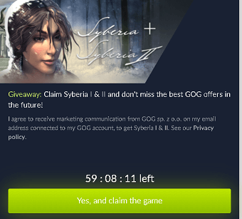 Syberia and syberia 2 games giveaway
