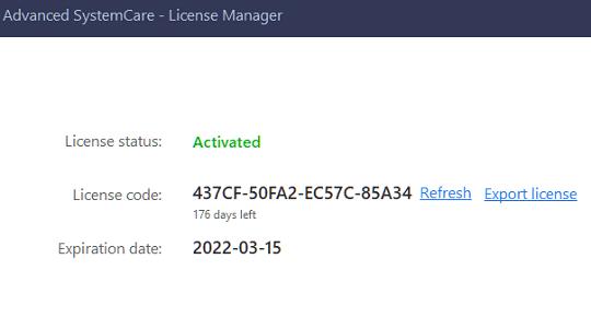 Advanced SystemCare Pro 14.6 License code