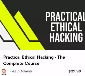 Practical Ethical Hacking Video Course Box Shot