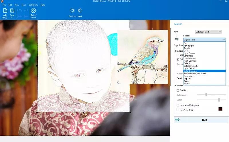 Sketch Drawer Pro UI - Interface