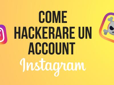 come hackerare un account instagram