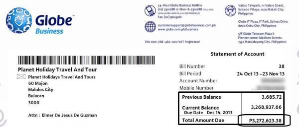 3Million_Globe_Bill