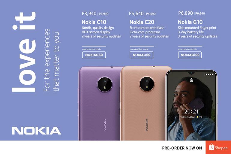 Nokia G10, Nokia C20, Nokia C10 shopee