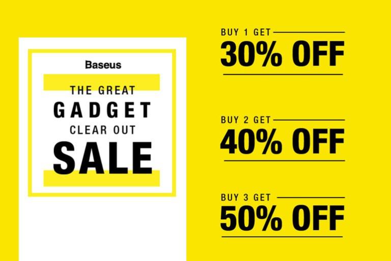 baseus great gadget clearout sale