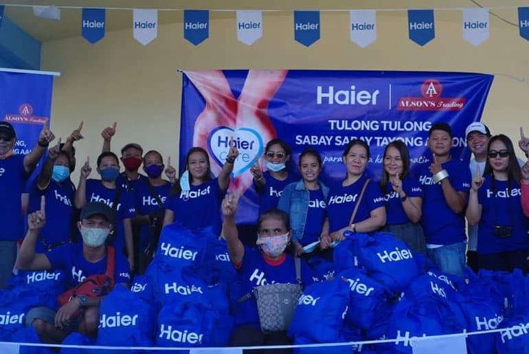 Haier Philippines Tulong Tulong, Sabay Sabay Tayong Aahon