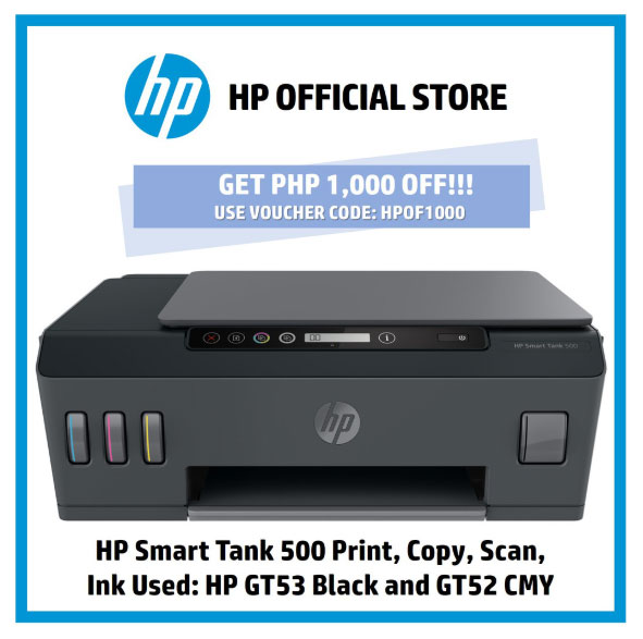 HP Smart Tank 500 AiO Printer Shopee