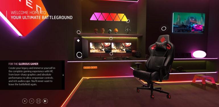 HP Virtual Showroom Gaming