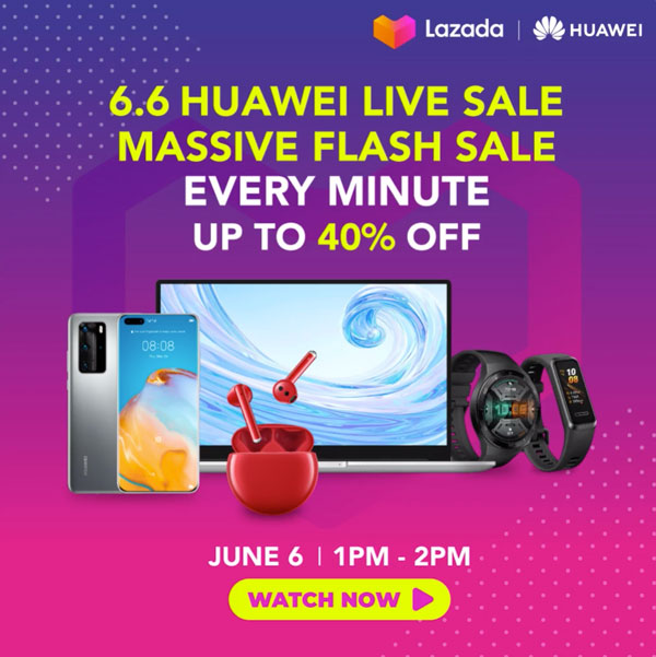 Huawei Lazada 6.6 Sale