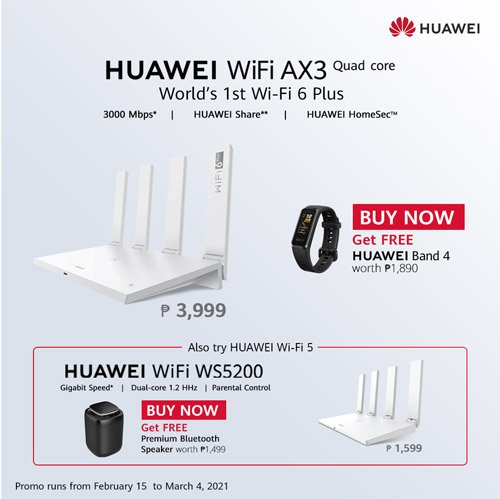 Huawei WiFi 6+ AX3 Router Price Philippines