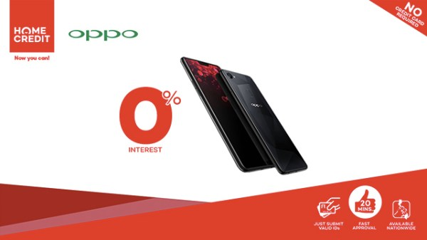 Get the OPPO F7 at 0% interest with Home Credit ...