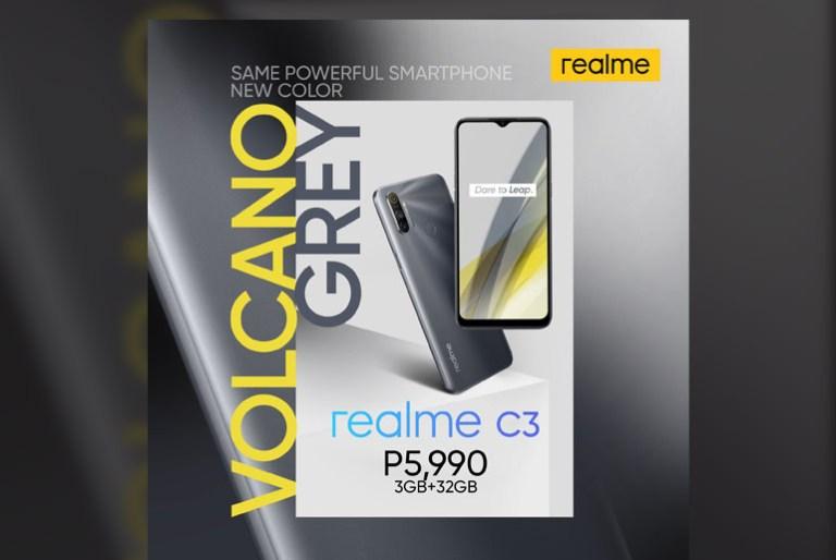 realme C3 Volcano Grey Philippines