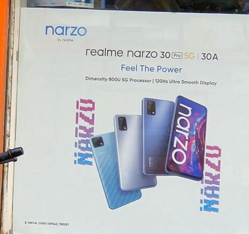 realme Narzo 30 Pro 5G leaked poster