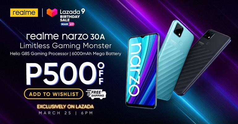 realme Narzo 30A Philippine Launch, Lazada Sale
